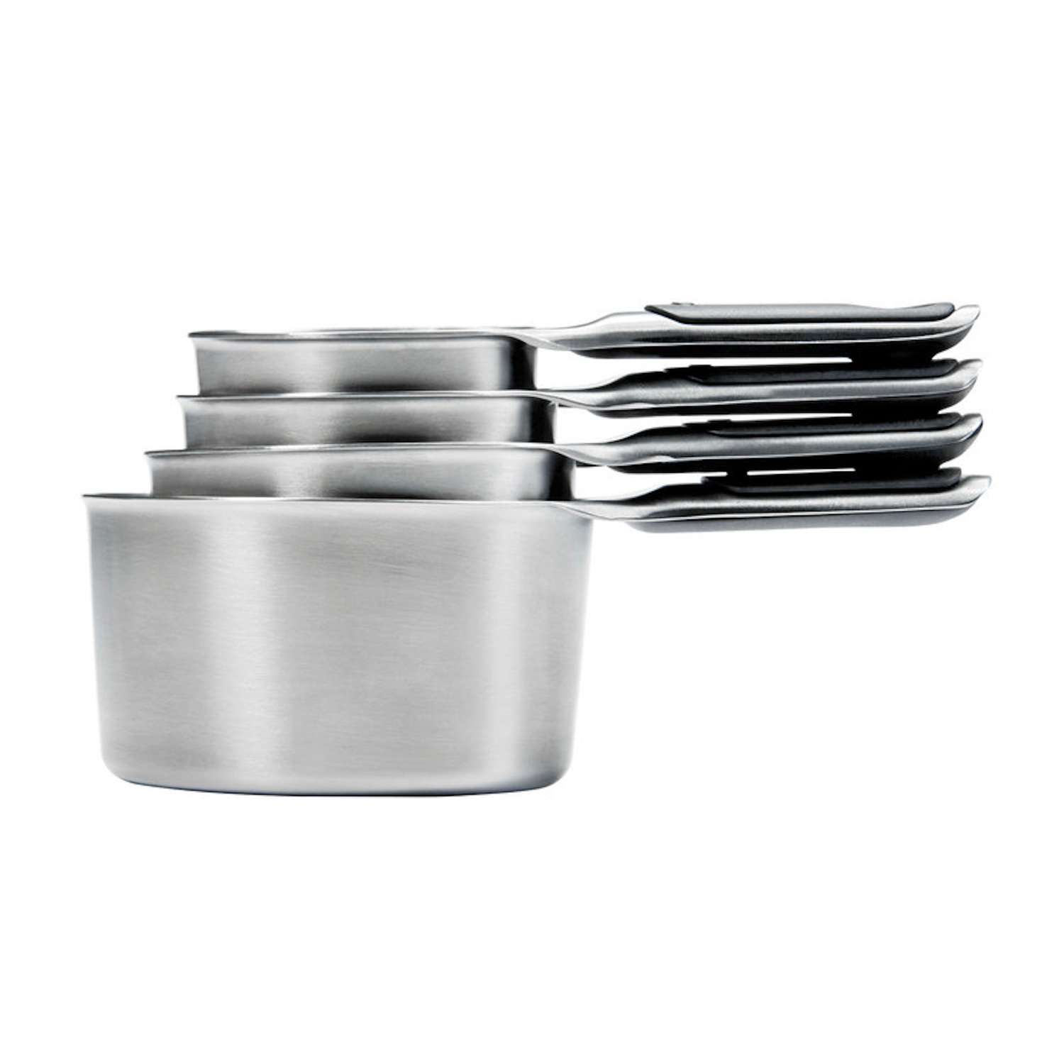 OXO  Good Grips  1/4, 1/3, 1/2 , 1 cups Stainless Steel  Silver  Measuring Cup