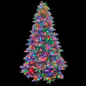 Celebrations  Multicolored  Prelit 7-1/2 ft. Frasier  LED Artificial Tree  1030 lights 1925 tips