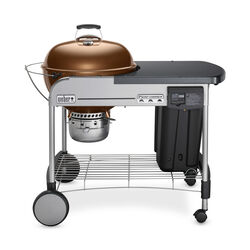 Weber  Performer Deluxe  Charcoal  Kettle  Grill  Copper  22 in.