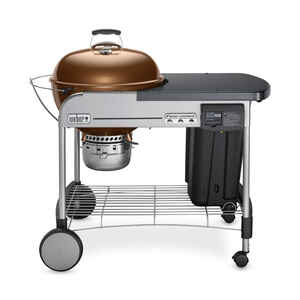 Weber  Performer Deluxe  Kettle  Grill  Charcoal  22 in. Copper