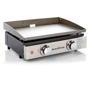Blackstone  22 in. W Stainless Steel  Nonstick Surface Griddle