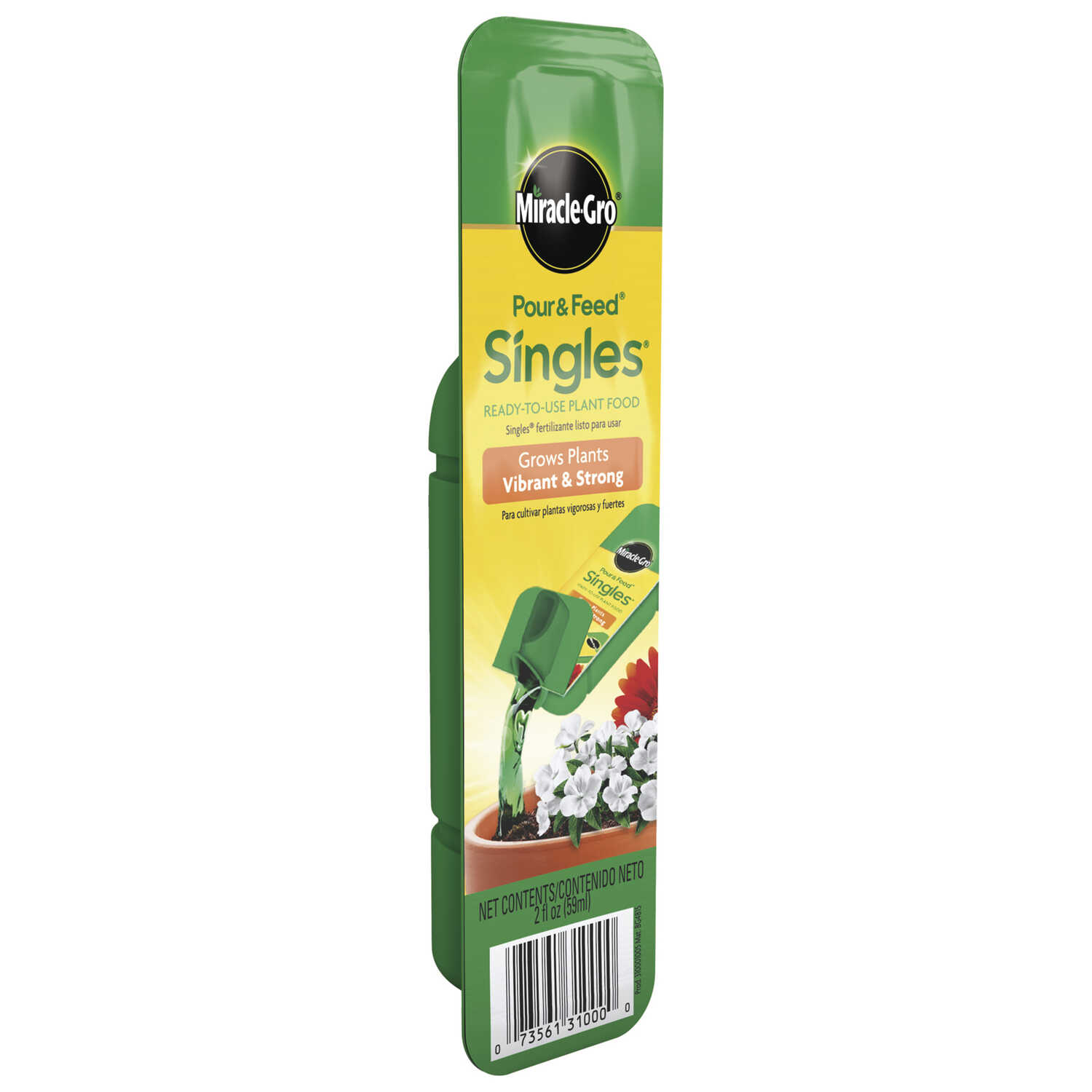 Miracle-Gro  Pour & Feed Singles  Liquid  Plant Food  2 oz.