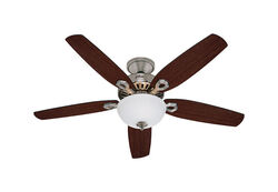 Hunter Fan Builder Deluxe 52 in. Brushed Nickel LED Indoor Ceiling Fan