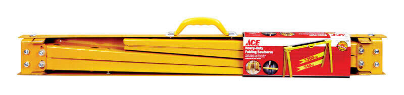 Ace  38 in. H x 2-2/5 in. W 1200 lb. Yellow  Heavy Duty Sawhorse