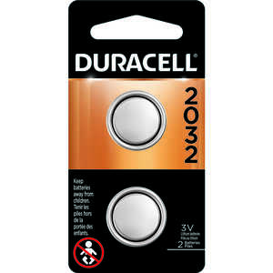 Duracell  2032  3 volt Security and Electronic Battery  Lithium  2 pk