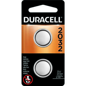 Duracell  2032  Security and Electronic Battery  2 pk Lithium
