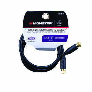 Monster Cable  Just Hook It Up  3 ft. Video Coaxial Cable