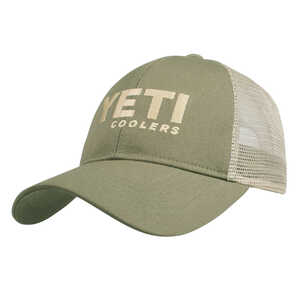 YETI  Olive  Trucker Hat  One Size Fits All  Cotton Twill