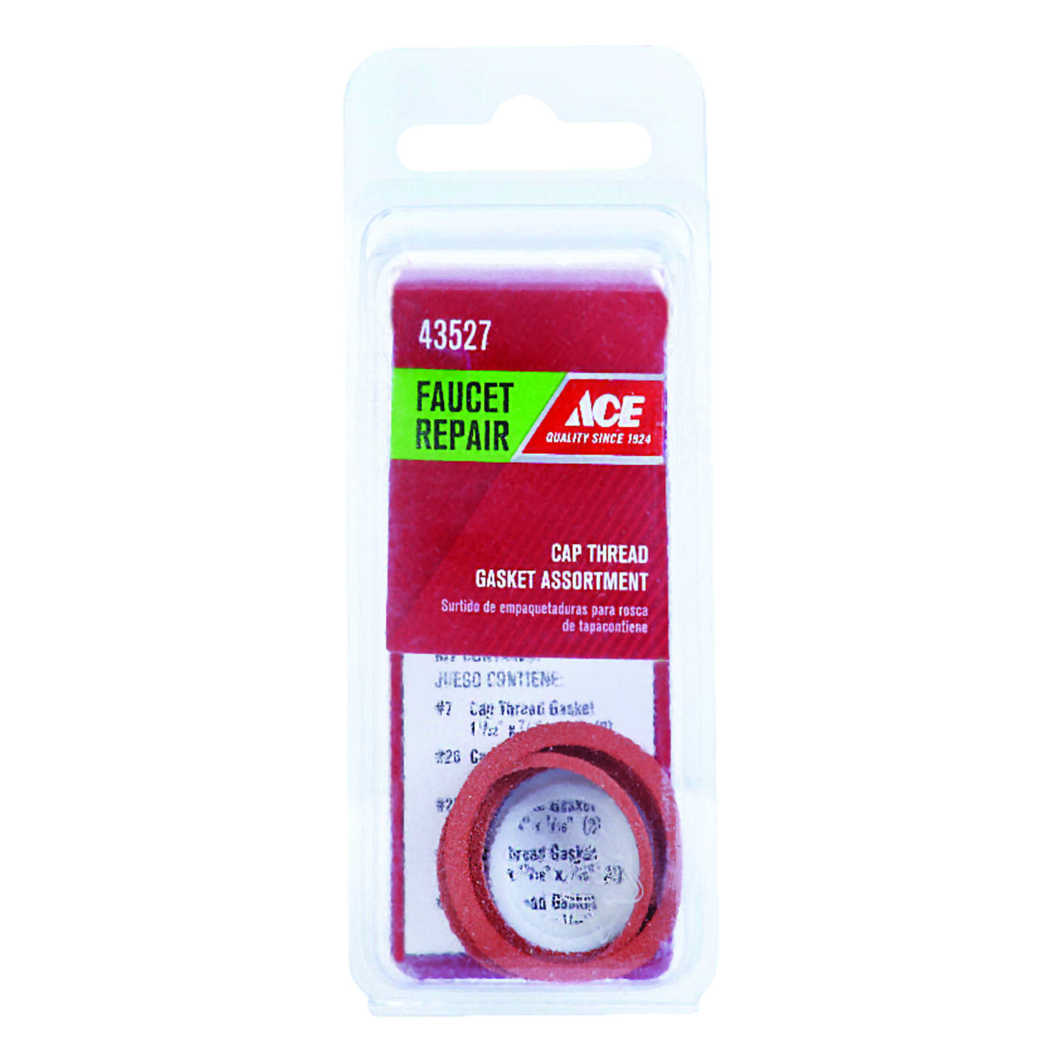 Ace Assorted In Dia Rubber Cap Thread Gasket 10 Pk Ace