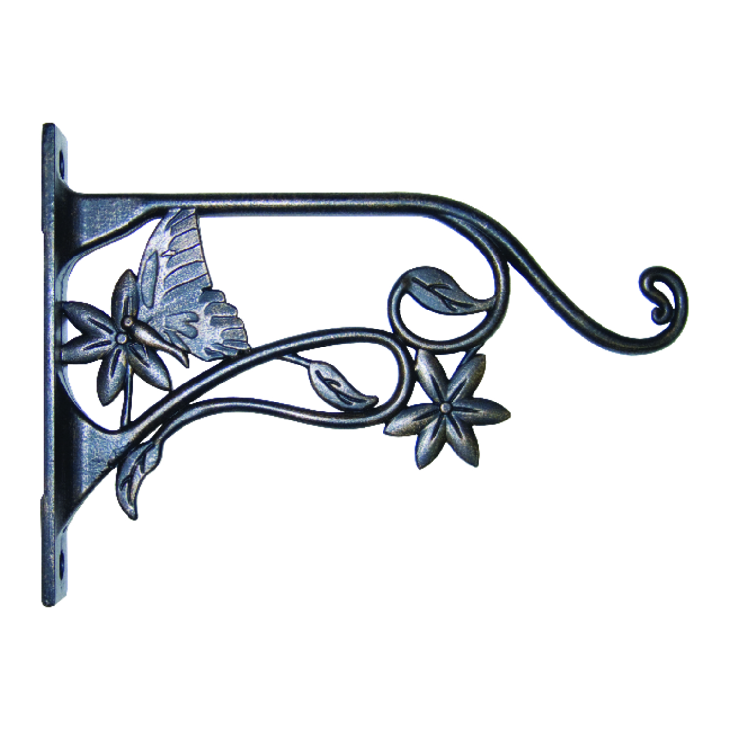 Panacea  Bronze  Steel  9 in. H Butterfly  Plant Hook