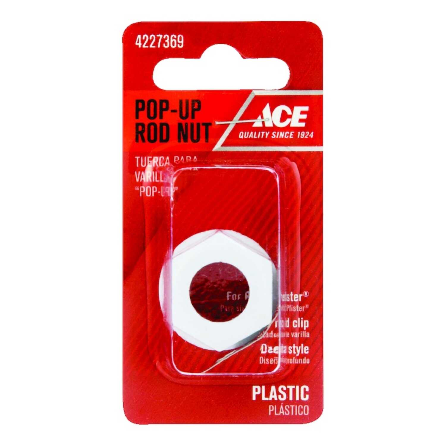 Ace  standard  Dia. Pop-Up Rod  Plastic  White