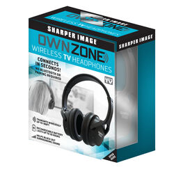 Sharper Image Own Zone  As Seen On TV  Wireless Over The Ear  TV Headphones  1 pk