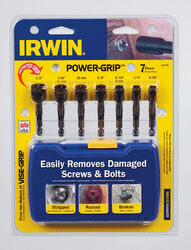 Irwin  POWER-GRIP  1/2 in.  High Carbon Steel  Double-Ended Screw Extractor Set  4 in. 7 pc.