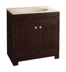 Continental Cabinets  Single  Bright  Vanity Combo  30 in. W x 18 in. D x 32 in. H