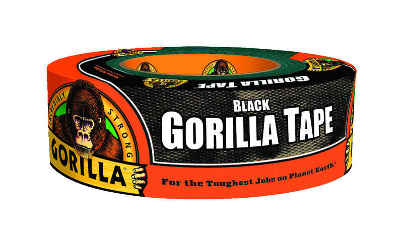 Gorilla  1.88 in. W x 35 yd. L Black  Duct Tape