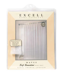 Excell  72 in. W x 70 in. H Solid  Shower Curtain Liner  Frosted