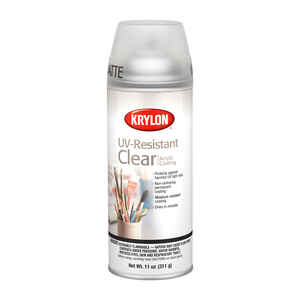 Krylon  Matte  Clear  11 oz. UV Resistant Acrylic Coating Spray