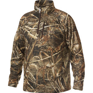 Drake  MST  M  Long Sleeve  Men's  Quarter Zip  Realtree Max-5  Pullover