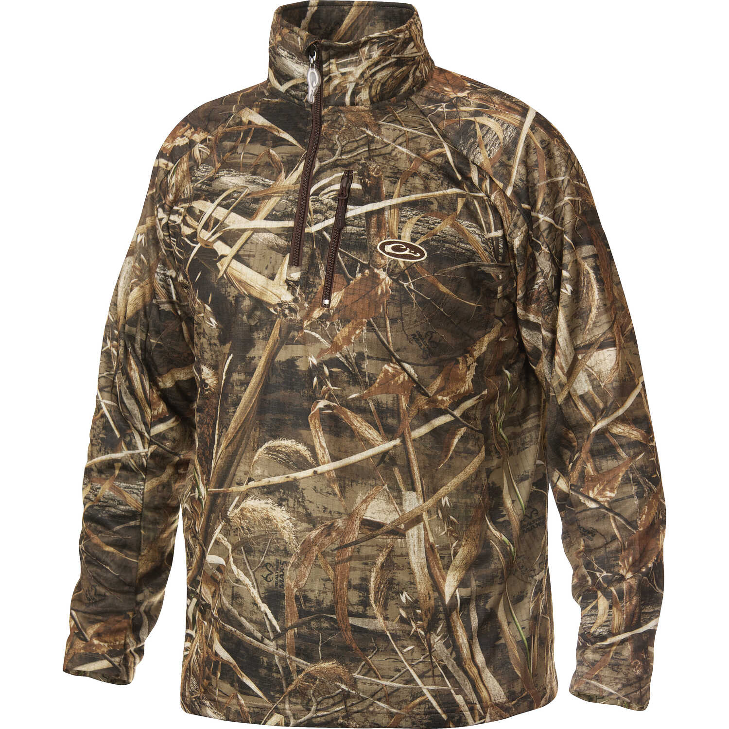 Drake  MST  M  Long Sleeve  Men's  Collared  Camouflage  Pullover
