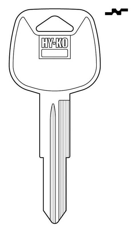 Hy-Ko  Automotive  Key Blank  EZ# TR46  Double sided For Fits Many 1998 And Older Ignitions
