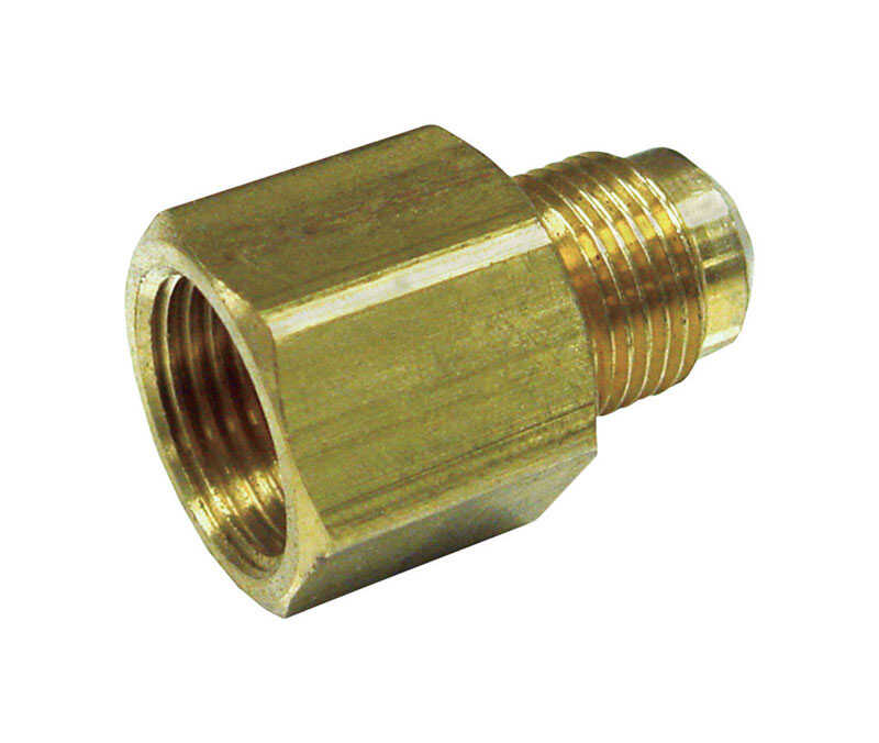 JMF  1/2 in. Female Flare   x 3/8 in. Dia. Male Flare  Brass  Reducing Adapter