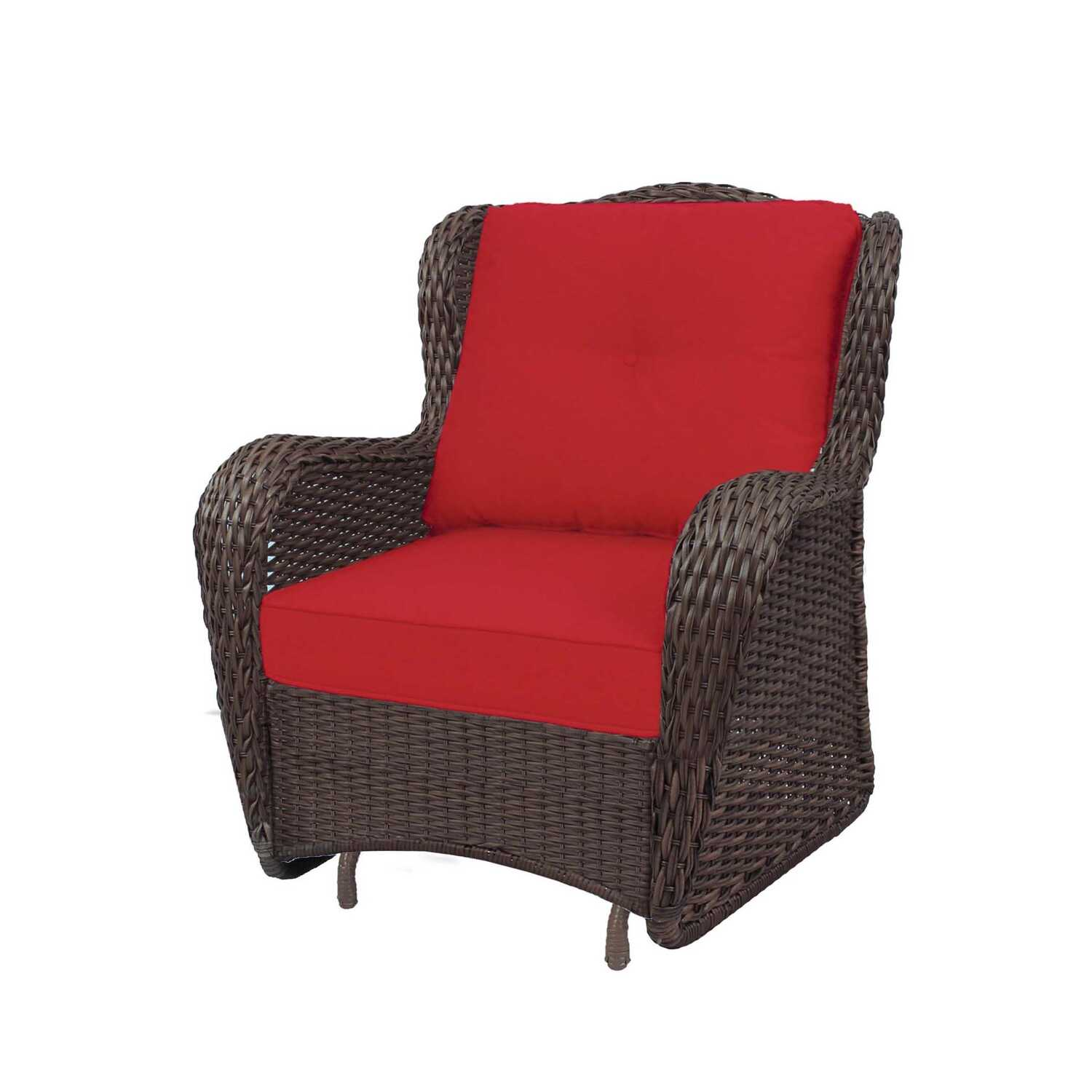 Living Accents  1  Brown  Steel  Cedarbrook  Deep Seating Set  Red