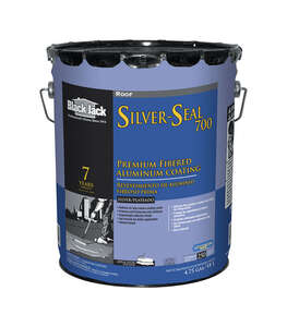 Black Jack  Silver-Seal 700  High Gloss  Silver  Aluminum  Fibered Aluminum Roof Coating  5 gal.