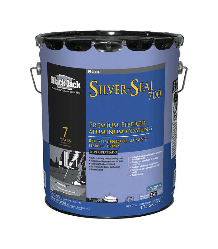 Black Jack  Silver-Seal 700  High-Gloss  Silver  Fibered Aluminum Roof Coating  5 gal.