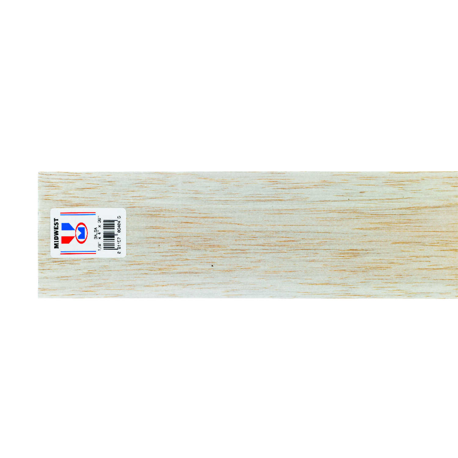 Midwest Products  4 in. W x 1/8 in.  x 3 ft. L Balsawood  Sheet