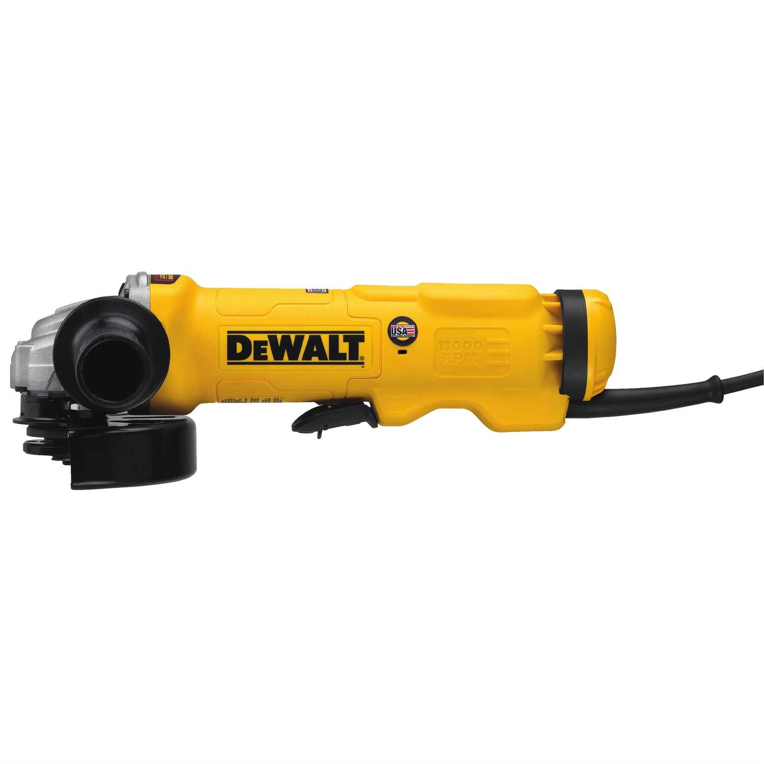 DeWalt  Corded  13 amps 4-1/2 to 5 in. Cut-Off/Angle Grinder  Bare Tool  Paddle  11000 rpm