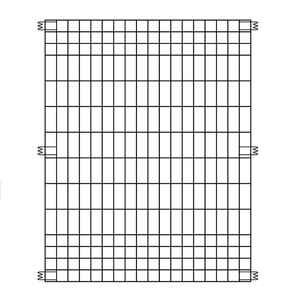 Origin Point Brand  44 in. H x 36 in. L Steel  Multi-Purpose  Fence Panel  Black