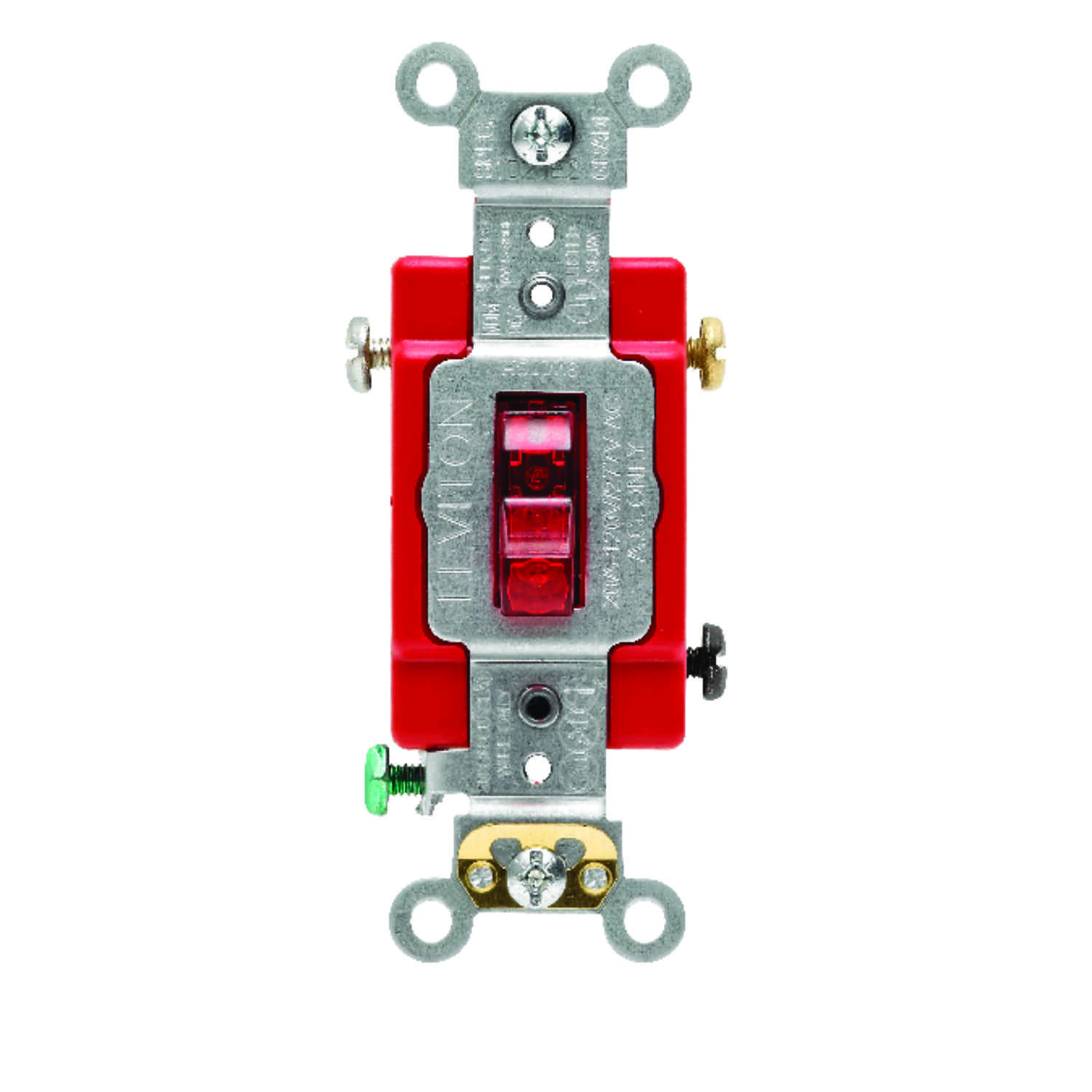Leviton  Industrial  20 amps Toggle  Switch  Red  1 pk
