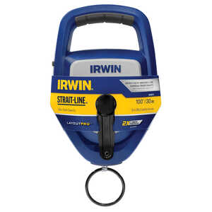 Irwin  Strait-Line  10 oz. Braided  100 ft. Chalk Line Reel