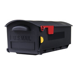 Gibraltar Mailboxes Patriot Classic Plastic Post Mount Black Mailbox