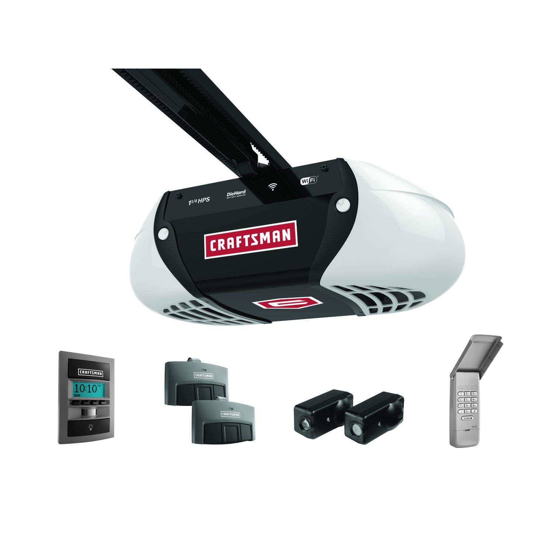Craftsman 1 1 4 Hp Belt Drive Wifi Compatible Garage Door Opener Ace Hardware