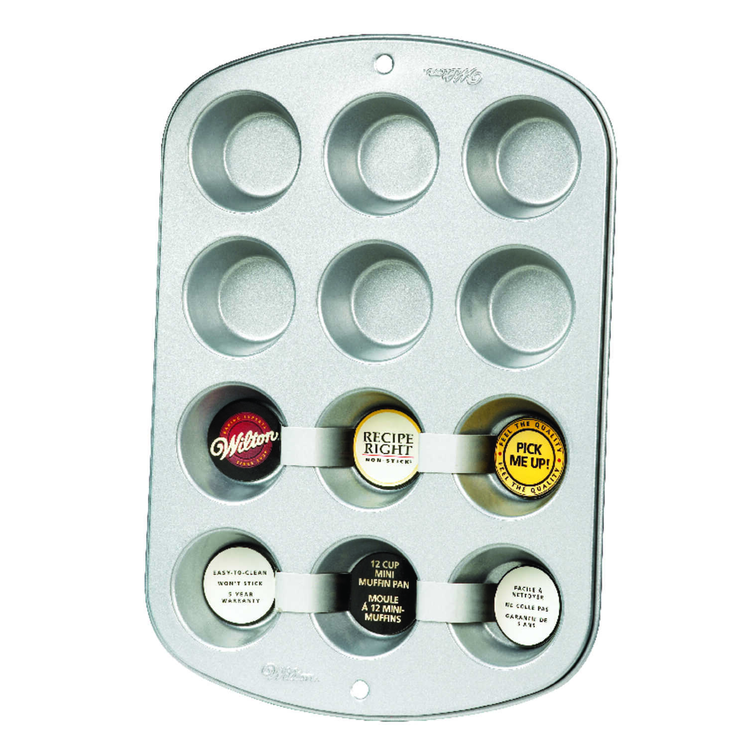 Wilton  3.4 in. W x 11.8 in. L Mini Muffin Pan