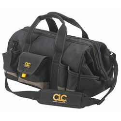 CLC  11 in. W x 12 in. H Polyester  Tool Bag  25 pocket Black/Tan  1 pc.