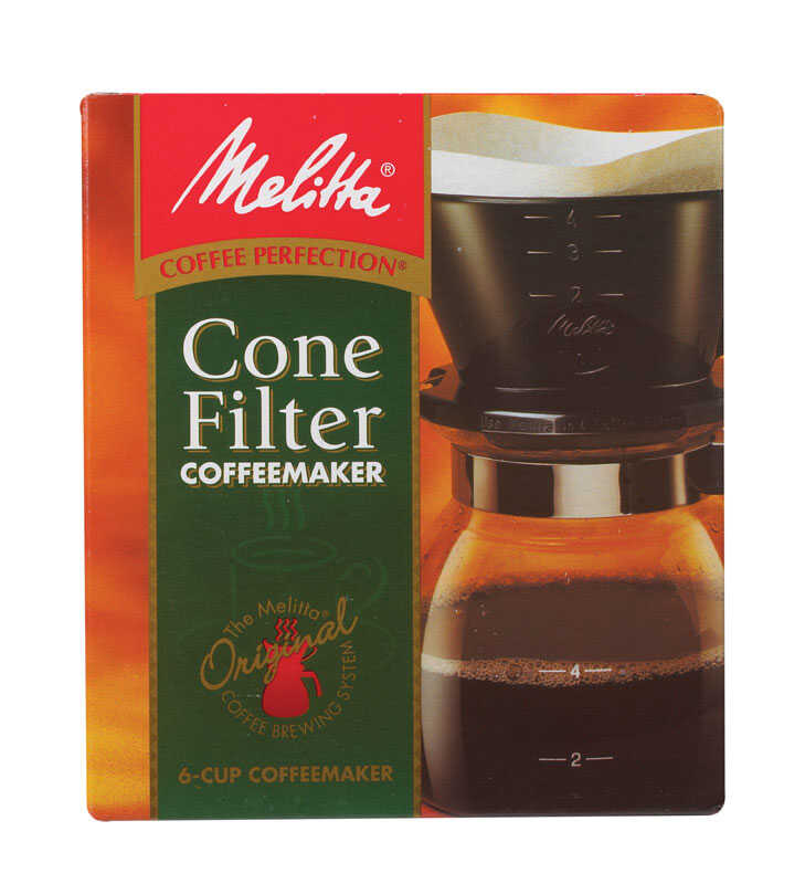 Melitta  Pour-Over Coffee Brewer  Black  6 cups