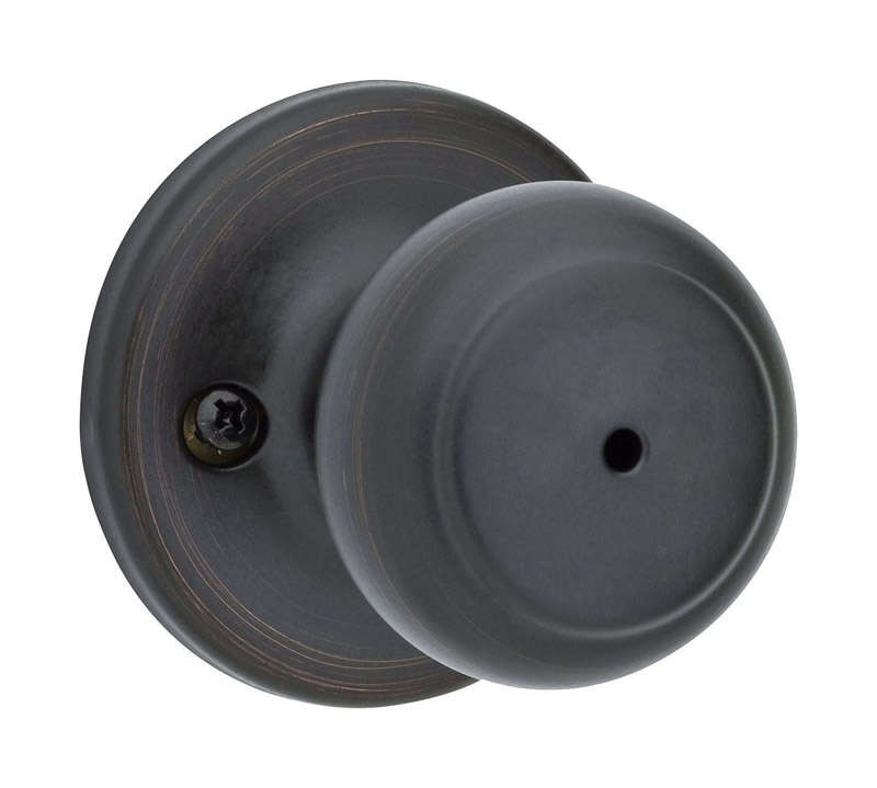 Kwikset  Cove  Cove  Venetian Bronze  Metal  Privacy Knob  3 Grade Right or Left Handed