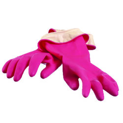 Casabella  Latex  Cleaning Gloves  M  Pink  1 pair