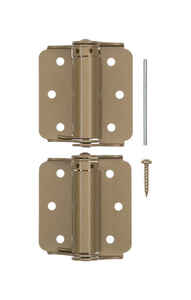 Ace  3 in. L Enamel Brass  Brass  Screen/Storm Self Closing Hinge  2 pk