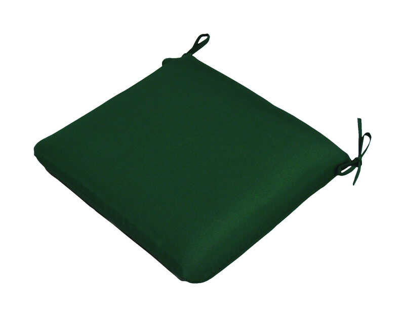 Casual Cushion  Polyester  Seating Cushion  2 in. H x 19 in. W x 18 in. L Green