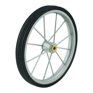 Apex  9.5 in. H x 1 in. L x 9.5 in. W Black/Silver  Shopping Cart Wheel