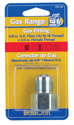 Brasscraft  3/4 in. Female Thread   x 5/8 in. Dia. Flare  Steel  Gas Fitting