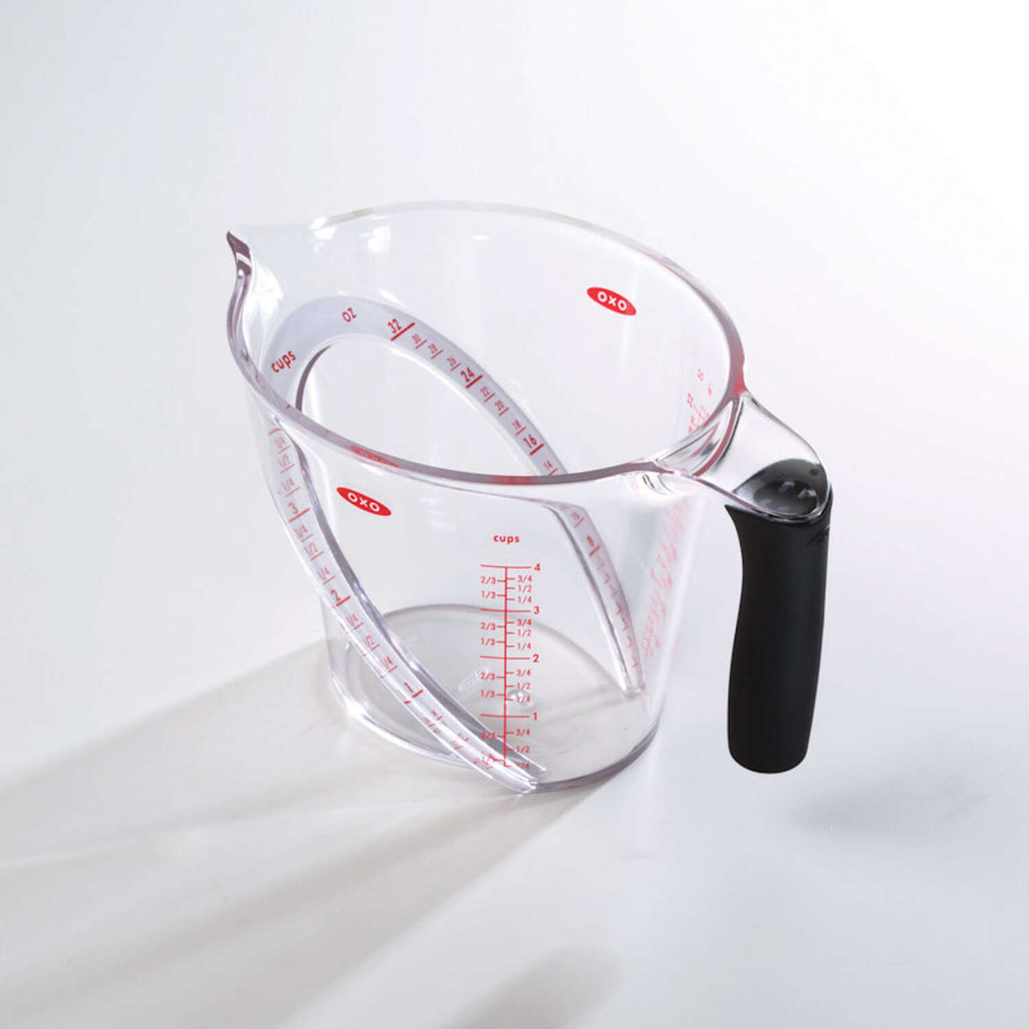 OXO  Good Grips  4 Cup  Plastic  Clear  Angled Measuring Cup