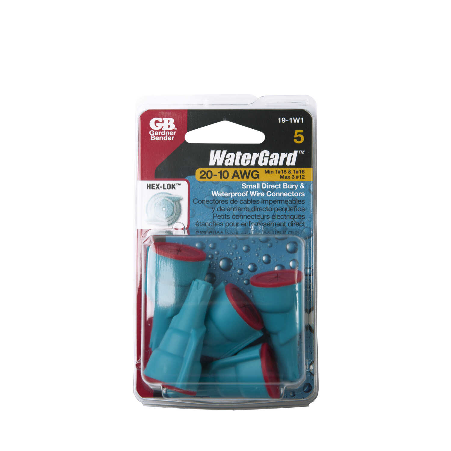 Gardner Bender  22-12 Ga. 5 pk Wire Connector  WaterGard