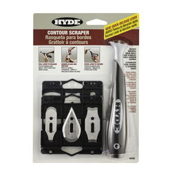 Hyde  1 in. W Stainless Steel  Contour Scraper Kit