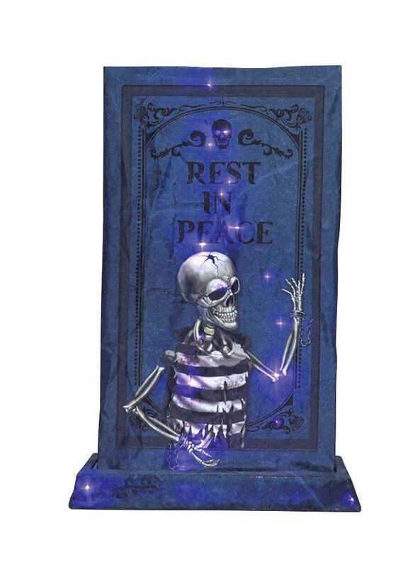 Citi-Talent  LED B/O Tombstone  Lighted Halloween Decoration  36 in. H x 8 in. W 1 pk