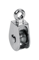 Baron  1/2 in. Dia. Electro-Plated  Zinc  Fixed Eye  Single Eye Pulley