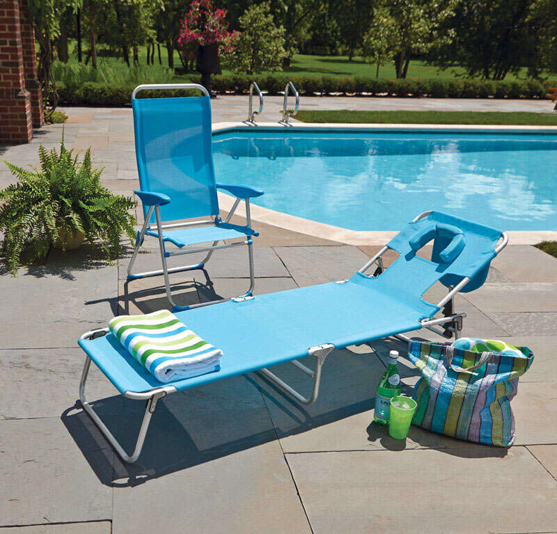 Rio Brands  Silver  Aluminum  Chaise Lounge